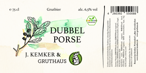 Dubbel Porse 2018 - Historic Gruit 75cl