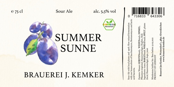 Summer Sunne - Plum Sour 75cl