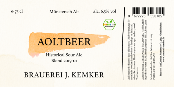 Aoltbeer Blend 2019-01 - Historic Sour Ale 75cl